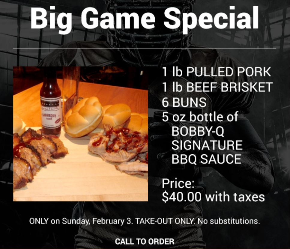 Bobby-Q Big Game Special